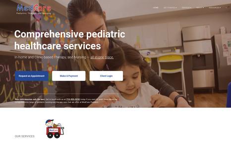 MedCare Pediatric and Nursing Complete Website Revamp | Desktop & Mobile Website...
