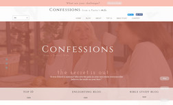 mysite Confessions of a Pastors Wife, built with a blog a...