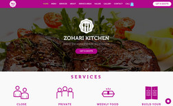 Zohari Kitchen Website about food catering.