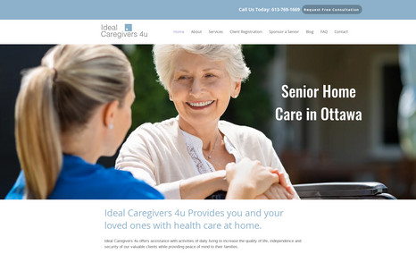 Senior Home Care Website This client wanted their existing Wix website rede...
