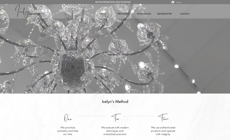 Icelyn Aesthetics Custom site design with booking feature including ...