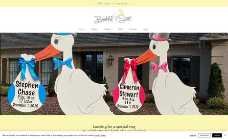 Bashful Stork Website design for Bashful Stork, a stork rental s...