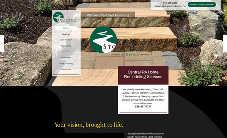 StoneyBrooke Home Renovations and Design Redesigned the website for StoneyBrooke, incorpora...