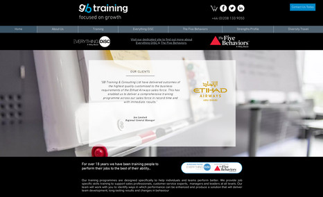 """GB Training A """"brochure"""" style site that gives clients all the..."""