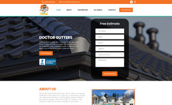 Doctor Gutters We completed a full website design along with a le...