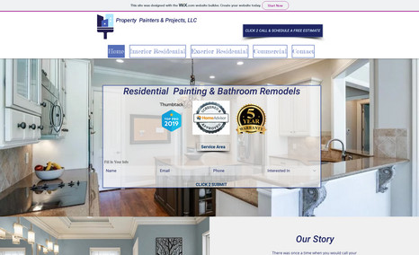 property painters Includes custom lead generation forms and hand pic...