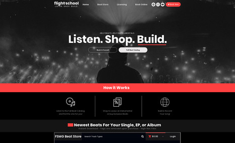 Flight School Beat Store Website was created with the goal of creating a br...