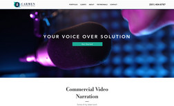 Carmen Recording Website Design & Development