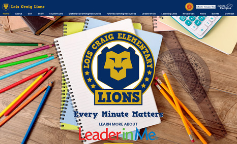 Lois Craig Lions This is a site for a public school!  Love the colo...