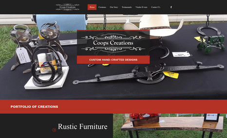 Coops Creations Designed a website to display the creative work of...