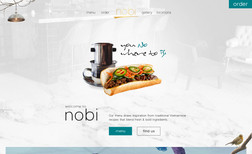 Nobi Grill Website design and development, Animated graphics ...