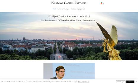 Khadjavi Capital Neues Design für Khadjavi Capital Partners, Invest...