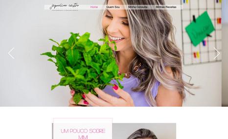 Jaque Castro Site novo para nutricionista