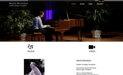 Martin Michelson Website for a music composer in two languages.