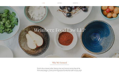 foodlawpartners Simple, new website for a law firm specializing in...