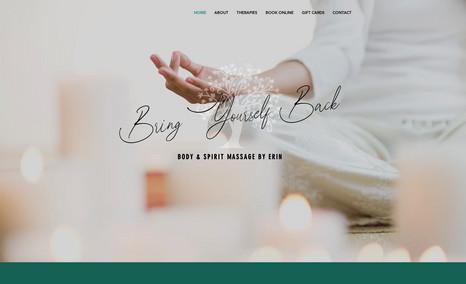 Body & Spirit Massage by Erin Massage Therapist Website