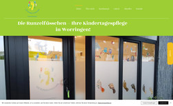 Die Runzelfüsschen Webdesign für Kindertagespflege