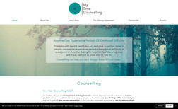 My Time Counselling A colourful website for Charlotte who provides a v...
