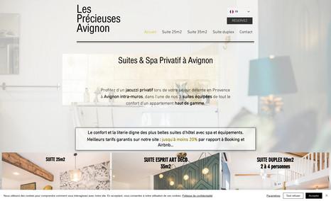 Les Précieuse Avignon Site vitrine avec lien de réservation pour des log...