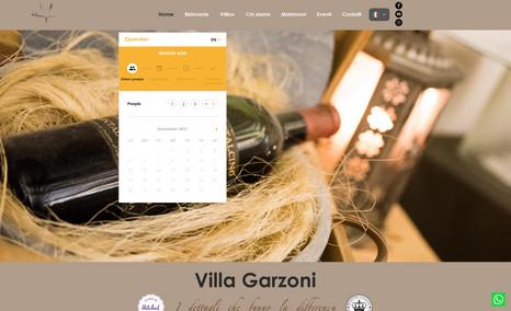 Villa Garzoni Creazione Sito Web