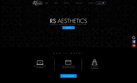 RS AESTHETICS Client had an existing Wix site with rich content ...