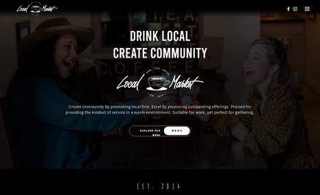 Degaje Local Market Created on Editor X
