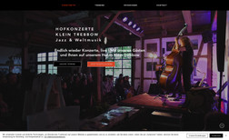 Hof Konzerte Klein Trebbow Webseite für Veranstaltungen