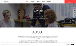 GANTTEX Website with manufacturing Textile products.