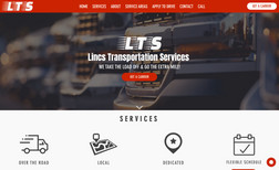 Lincs Transportation Website about a small local business that does fre...