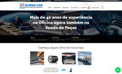 Durancar Site Institucional + e-commerce de peças automotiv...