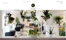 East Q Salon Client uses his website on both his phone and on t...