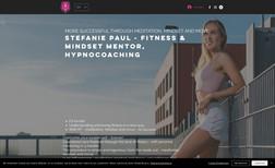 Fitness- & Mindsetmentorin Stefanie Paul Webseite für Fitnesscoaching
