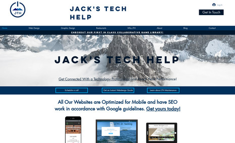 Jack's Techhelp A website advertising Jack's Tech Help. This site ...