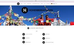 hohenbergsteigen Webdesing