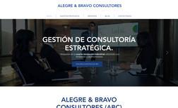 Consultores Alegre & Bravo Sitio web de consultoria empresarial estratégica.
