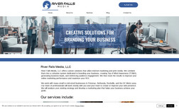 River Falls Media Web design, logo creation, email forms, training a...