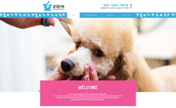 Juju Pet Grooming Website design, Logo branding.   *all of our proje...