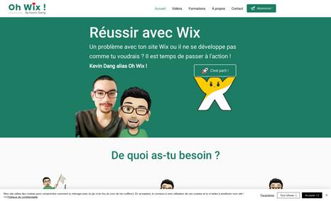 Oh Wix ! Création du site internet ohwix.com