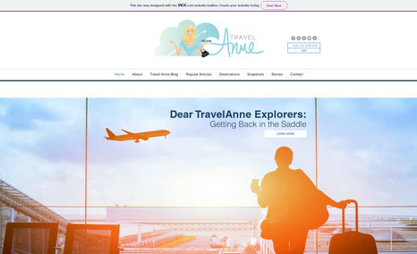 Travel Anne Travel Site highlighting domestic and Internationa...