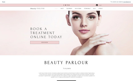 beauty parlour Beauty Website with online booking system and clie...