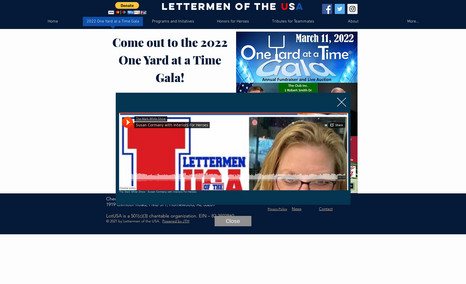 Lettermen of the USA Redesigned the site to look, feel, and navigate be...