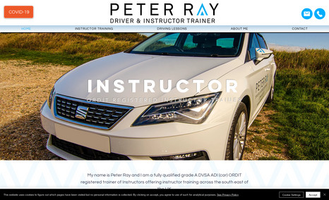 Peter Ray Driver & Instructor Trainer Website for local driver and instructor trainer.