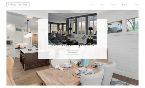 Carmel Interiors A stunning clean, professional, and welcoming webs...