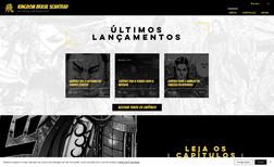 website Site para divulgação de MANGAS