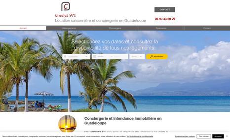 Creolys971 - Sainte-Rose Guadeloupe Site vitrine pour une activité de conciergerie et ...