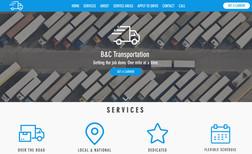 B&C Transportation Website about freight carrier.