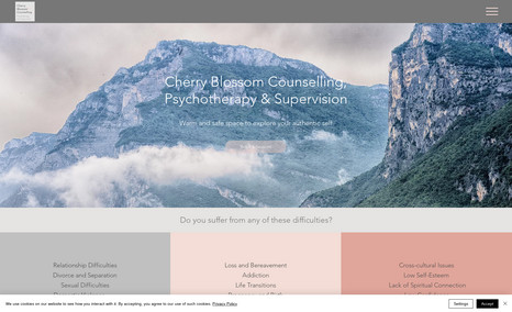 Cherry Blossom Counselling This is a website for a psychotherapist based in L...