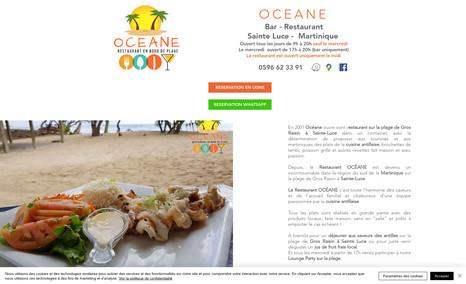 Restaurant Océane - Sainte-Luce Martinique Site Vitrine - Restaurant sur la plage de Gros Rai...