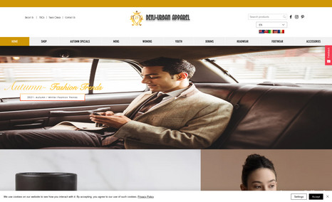 Benj Urban Custom Apparel Complete redesign of website for Benj Urban Appare...