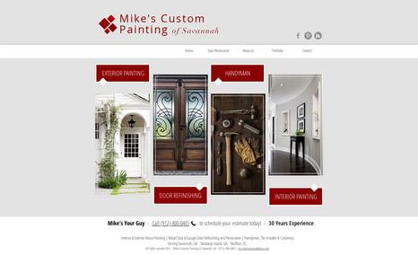 Mike The Door Guy Website design, SEO, marketing.